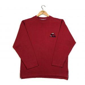 vintage clothing fila red embroidered back logo sweatshirt