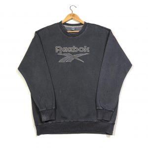 vintage clothing reebok big logo grey sweatshirt